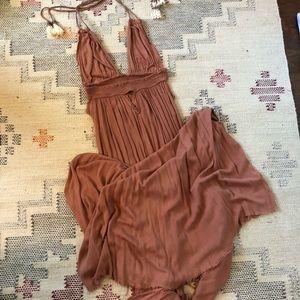 Free people long bohemian halter dress